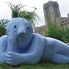Student Sculptures on V&E Greenline