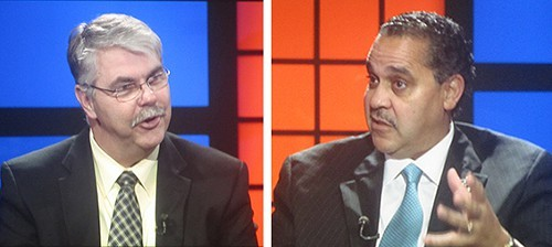 Superintendents Aitken (left) and Cash on WKNOs  Behind the Headlines