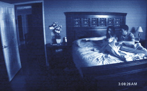 Tape rolling: a scene from Paranormal Activity