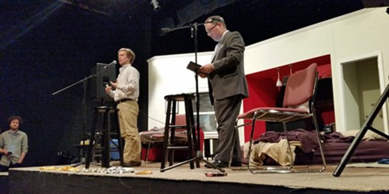 Taylor Berger (left) and Kyle Veazey (right) opened the forum for discussion from speakers.