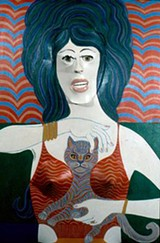 Ted Faiers' Woman With Cat - COURTESY ESTATE OF TED FAIERS
