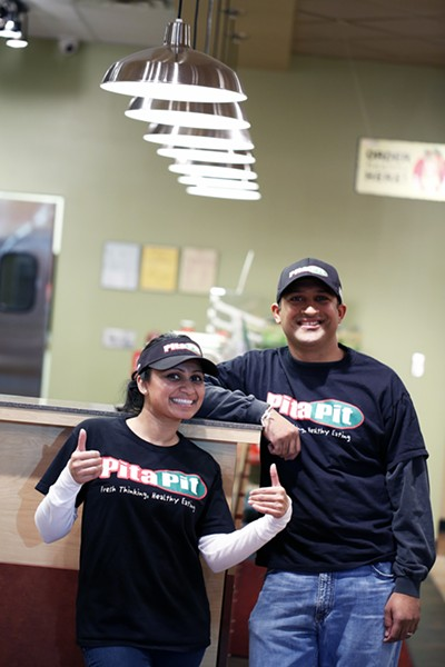 Tejal and Jay Patel open Memphis' first Pita Pit franchise on Union Avenue. - JUSTIN FOX BURKS