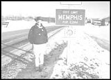 PHOTO BY MARK NOMURA - The author toes the line at Memphis, Missouri.