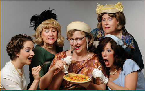 The cast of Five Lesbians Eating a Quiche, at TheatreWorks