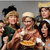 So, these five lesbians are eating a quiche...