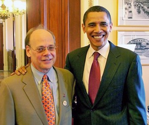 The Congrssman and the President in 2010