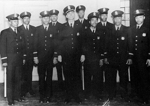 The first nine black MPD officers in 1948