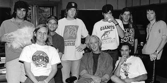 The Gin Blossoms with Hampton (seated center)