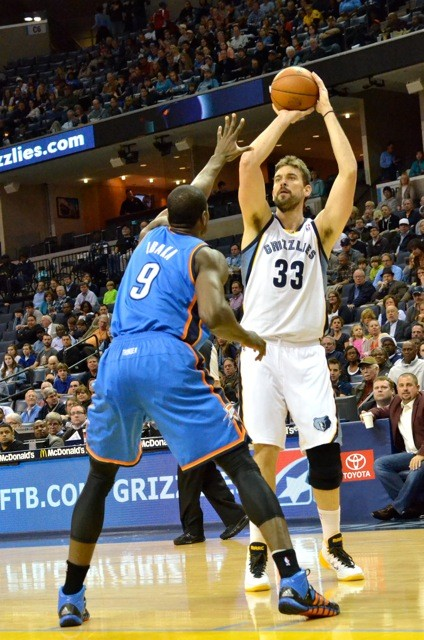 The Grizzlies and Thunder play in November in the Grizzlies only ESPN game of the season.