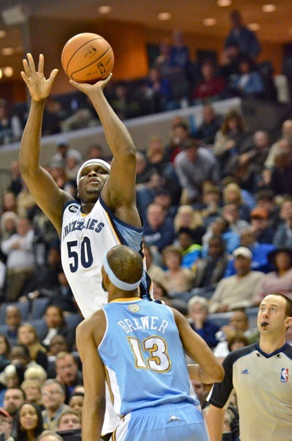 The Grizzlies are still trying to shoot past the Nuggets in the race for the three seed.