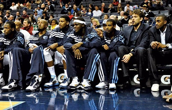 The Grizzlies foundation (left to right): Rudy Gay, Zach Randolph, Mike Conley, and Marc Gasol