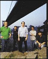The Hold Steady with Craig Finn (center)