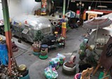 JAMIE HARMON - The indoor trailer park that Tad Pierson calls home