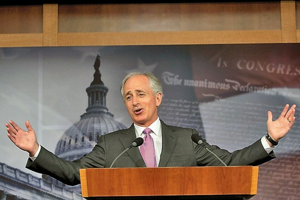 The laborious song stylings of Bob Corker. Hell be here all week. And next.