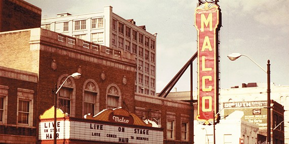 The Malco Theatre (now The Orpheum) in 1972