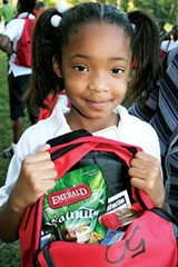 COURTESY OF MID-SOUTH FOOD BANK - The Mid-South Food Bank fills backpacks like this one every week.