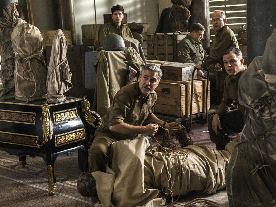 The Monuments Men stars and is directed and co-written by George Clooney