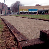 The new bocce ball court on South Main