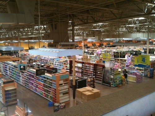 The new Poplar Plaza store, view from upstairs offices