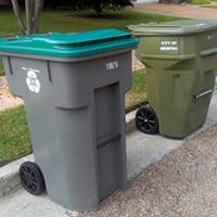 The new recycling bins are the  same size as city trash bins.