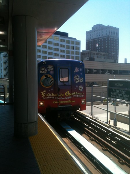 "The ""People Mover,"" which moves very few people a very short distance around downtown for 75 cents."