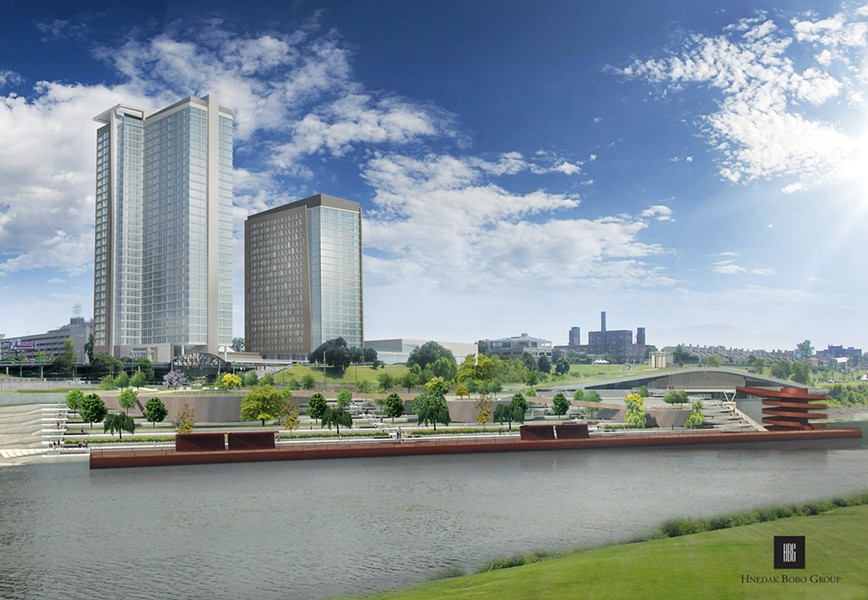 The proposed towers of the One Beale project. - HNEDAK BOBO GROUP INC.