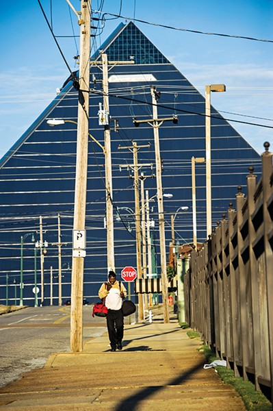 The Pyramid from Overton Avenue