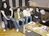The Raconteurs with (far right) John Hampton - COURTESY ARDENT STUDIOS