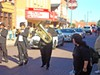 The Rudy Williams Band led Ernest Withers' funeral procession down Beale on Saturday.
