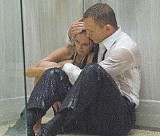The spy who loved me: Daniel Craig comforts Eva Green