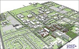 COURTESY UNIVERSITY OF MEMPHIS - The U of M's existing campus and future campus (dark green) according to the master plan.