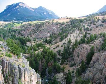 The view from the Chief Joseph Scenic Highway