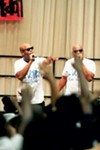 """""""The Wake Up Tour"""" delivers its messages through the talents gospel rap group D'Voted."""