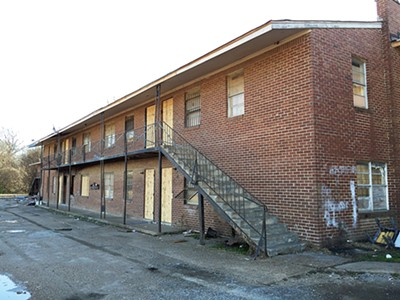 This blighted apartment building on Tillman will soon be demolished. - BIANCA PHILLIPS