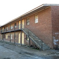 This blighted apartment building on Tillman will soon be demolished.