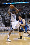 Thunder forward Nick Collison has guarded Zach Randolph well in this series, but Z-Bo handled him tonight.