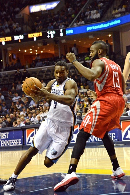 Tony Allen got the best of league-leading scorer James Harden in this one.