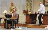 Tony Isbell, Barclay Roberts, and Jerry Chipman in Moonlight and Magnolias at Theatre Memphis