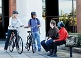 LINDSEY LISSOU - U of M students check out Tiger Bike.