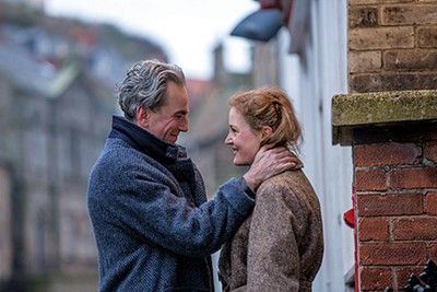 Daniel Day-Lewis (left) and Vicky Krieps tangle their lives in Paul Thomas Anderson's new film about fashion and passion, Phantom Thread.