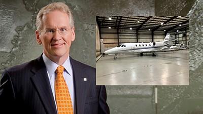 TVA's Bill Johnson and one of its new jets. - TVA/FAA