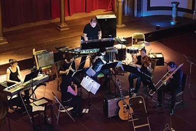 Blueshift Ensemble performers at work - ALEX SMYTHE