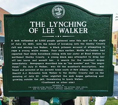 The Lynching Sites Project's - marker for Lee Walker - LYNCHING SITES PROJECT