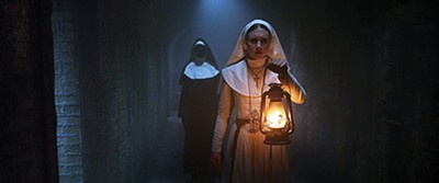 Taissa Farmiga get creepy in The Nun, which is actually a film about multiple nuns.