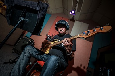 """Leroy Hodges, from sessions for Amazon's """"Produced By: Matt Ross-Spang"""" series. - JAMIE HARMON"""