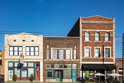 WEVL offices on South Main (center) - JUSTIN FOX BURKS