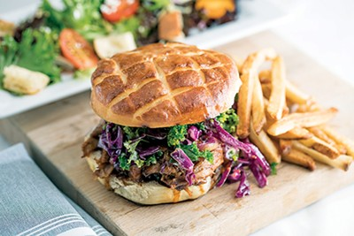 Interim's new Duck BBQ sandwich