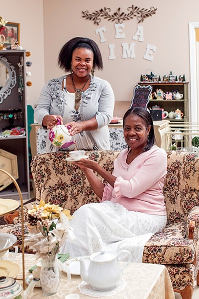 Morgan Lee (left) and Stacy Brooks of TreeLeaf Tea Room - PHOTOGRAPHS BY JUSTIN FOX BURKS