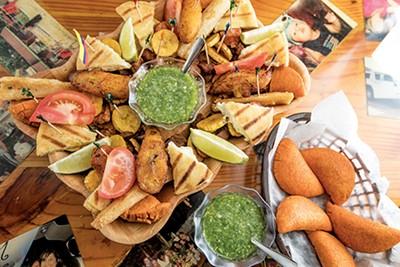 A sampler platter of Colombian delights. - JUSTIN FOX BURKS