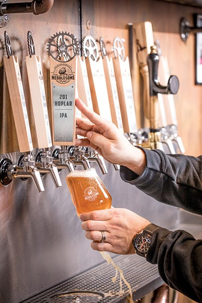 Meddlesome Brewing Company's flagship IPA 201 Hoplar - JUSTIN FOX BURKS